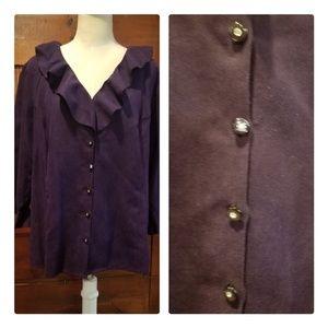 Avenue purple ruffle top (18/20)